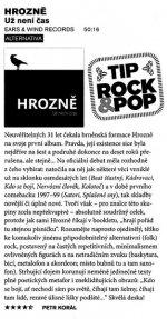 Recenze desky Hrozně - Už není čas (Rock a Pop 8/2013, Petr Korál)