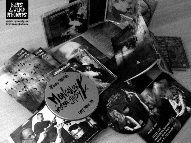 Novinky Ears&Wind Records, zima 2013. CD Mongolovy městské sady a Ginnungagap, DVD 10let Ears&Wind Records a Záviš