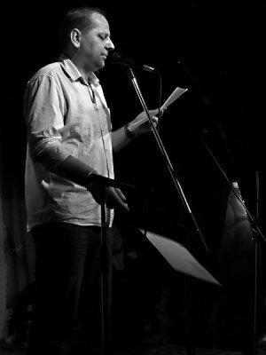 Mirek Václavek, Potulný dělník 2014 - festival poesie, Brno, RC Brooklyn 16.-18.11.2014. Foto Jan Drbal