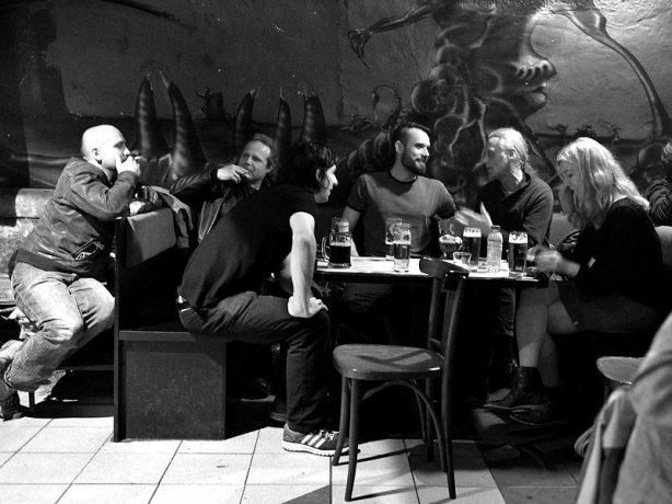 Brněnská kavárna. Potulný dělník 2015, Brno - RC Brooklyn. Foto Zdenek Vykydal