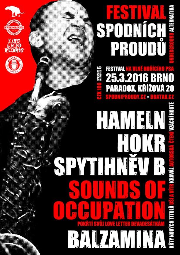 Festival spodních proudů. Brno-Paradox, 25. března 2016