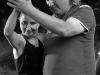 Krákor 2014, Ostopovice u Brna. Pódiový tanec Ewy a Ivoše byl neplánovanou součástní křtu desky NicMoc kvintetu. Foto Vladimír Sabo.