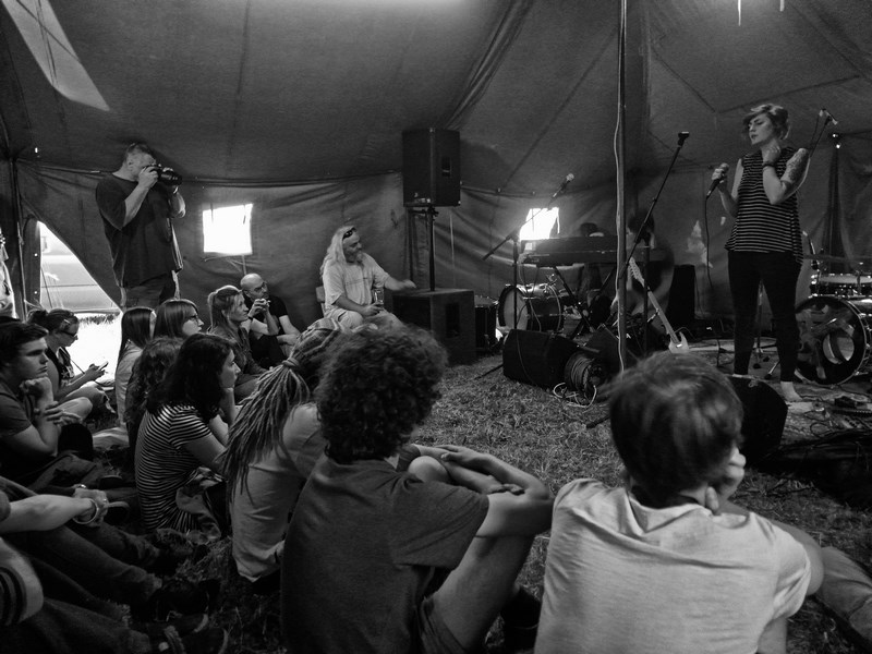 Čtení na malé scéně,  Krákor 2016, Ostopovice u Brna. Foto An Anus