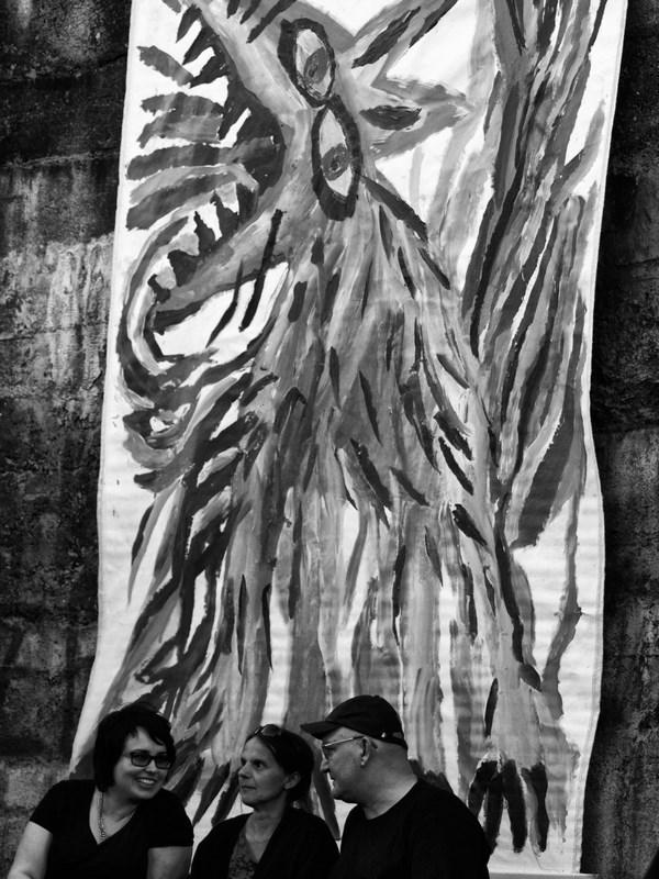 Pod hořícím psem Evy Macholánové, Krákor 2016, Ostopovice u Brna. Foto An Anus