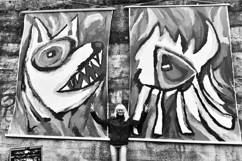 Pod obrazy Evy Macholánové... Krákor 2017. Foto Vladimír Sabo