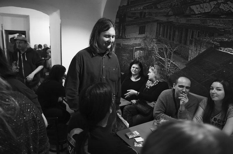 Brněnská kavárna. LES 2015, 28. listopadu, Brno, klub Paradox. Foto Zdenek Vykydal