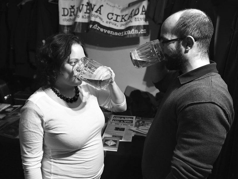 Dřevěná cikáda jako azyl pro milence. LES 2015, 28. listopadu, Brno, klub Paradox. Foto Zdenek Vykydal
