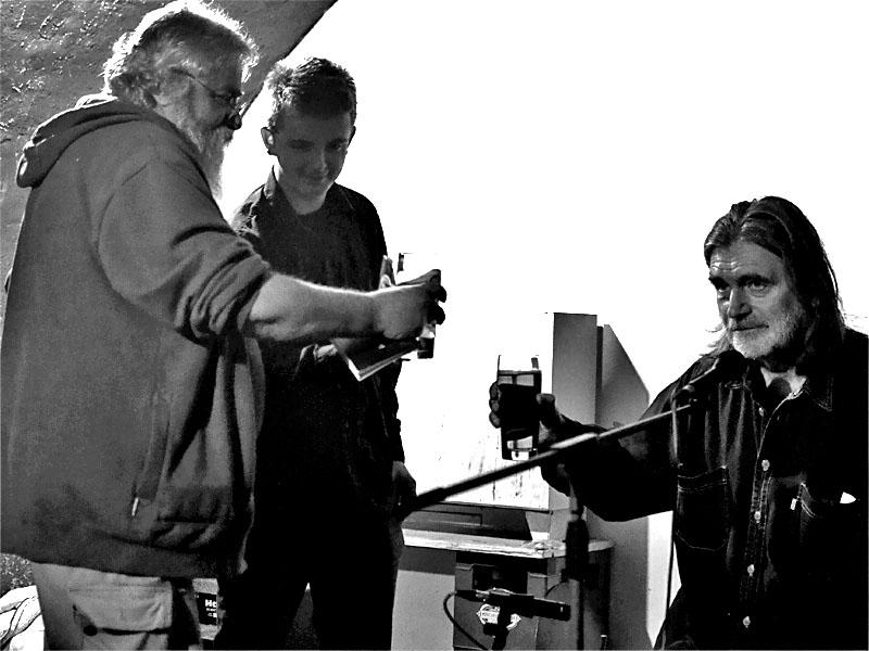 Havran, Eric a Záva - křest Oběšeného Petra, Les - Krákor retrospektiva, 29. a 30. listopadu 2013, Brno - klub Boro, foto Zdeněk Vykydal