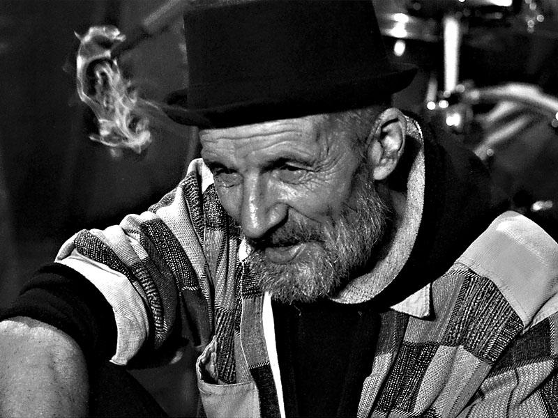 Křižák - Tom Waits chudých.  Les - Krákor retrospektiva, 29. a 30. listopadu 2013, Brno - klub Boro, foto Zdeněk Vykydal
