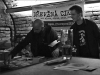 Dřevěná cikáda, Fido a Eric. Les - Krákor retrospektiva, 29. a 30. listopadu 2013, Brno - klub Boro, foto Maryen