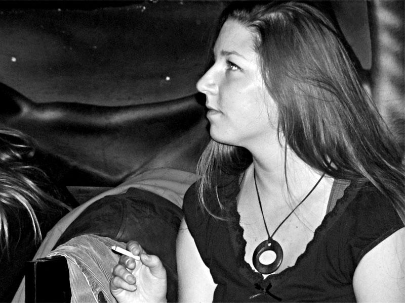 Martina na kuřáckém festivalu, LES 2014, narozeniny Ears&Wind Records, 14. listopadu 2014, Brno-Brooklyn, foto René