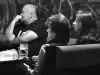 Ředitel Rádia Underground Vladimír Palivec s fotografkou Maryen a obyvatelkou Havířova Slávkou, LES 2014, narozeniny Ears&Wind Records, 14. listopadu 2014, Brno-Brooklyn, foto Zdenek Vykydal