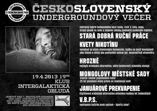Večer Československého undergroundu, 19.4.2013, Bratislava