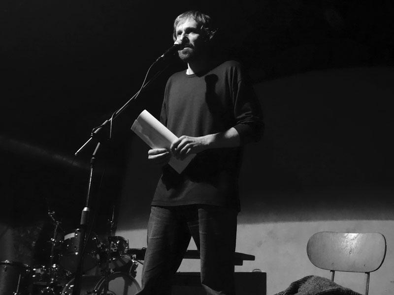 Brněnský básník Ivan Petlan. Potulný dělník 2015, Brno - RC Brooklyn. Foto René Žárovka