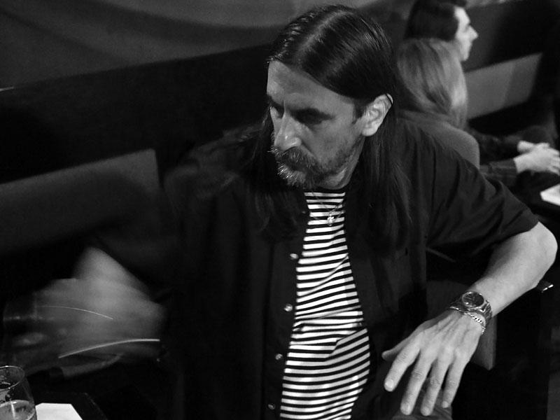 Vzácný host Oto, tvář kapel Terra Ignota a Kolben Kavlík. Potulný dělník 2015, Brno - RC Brooklyn. Foto Zdenek Vykydal