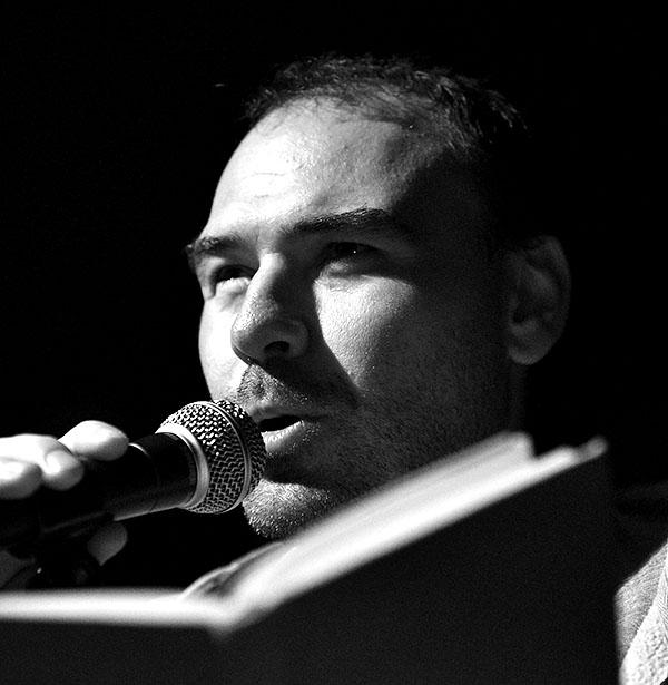 Tomáš Lotocki pokřtil novou knihu Kázání na Mniší hoře. Potulný dělník 2015, Brno - RC Brooklyn. Foto Zdenek Vykydal