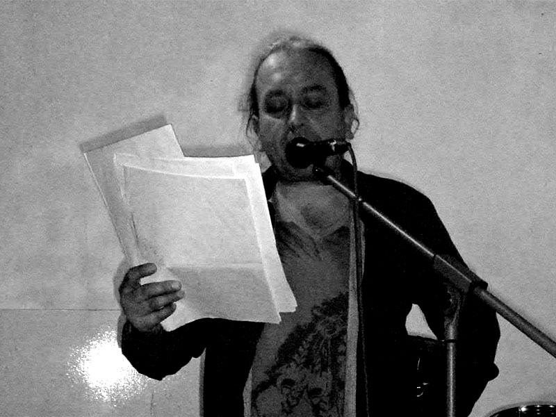 Ostravský básník Ivan Motýl. Potulný dělník 2013, Brno - Boro. Foto © Ivoš Krejzek