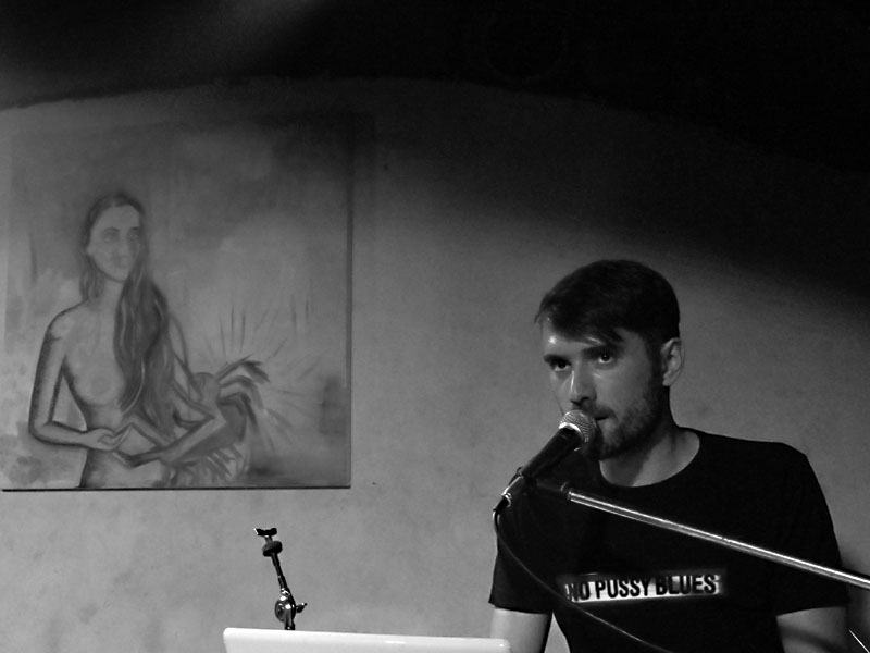 Jan Lamram, Potulný dělník 2014 - festival poesie, Brno, RC Brooklyn 16.-18.11.2014. Foto Jan Drbal