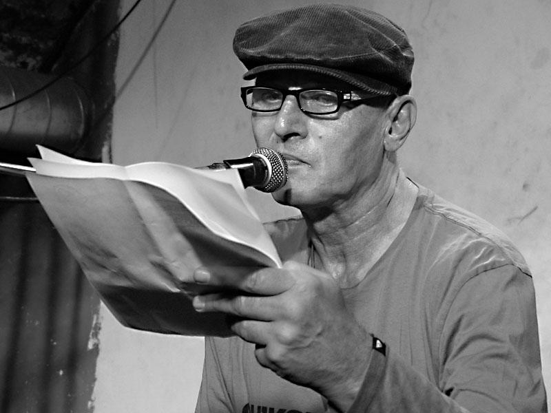 Pavel Zajíček, Potulný dělník 2014 - festival poesie, Brno, RC Brooklyn 16.-18.11.2014. Foto Jan Drbal