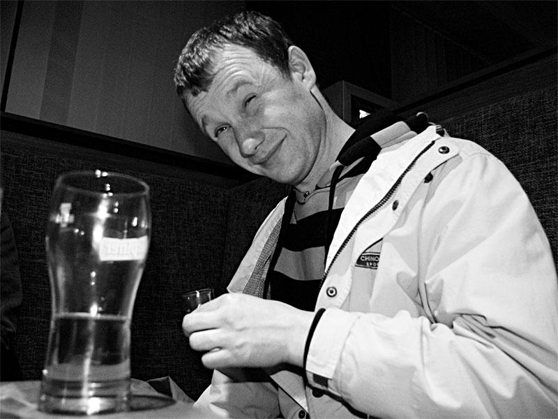 Místní pivo Urpiner chutnalo nealkoholicky, bar Triangolo Zvolen, duben 2013